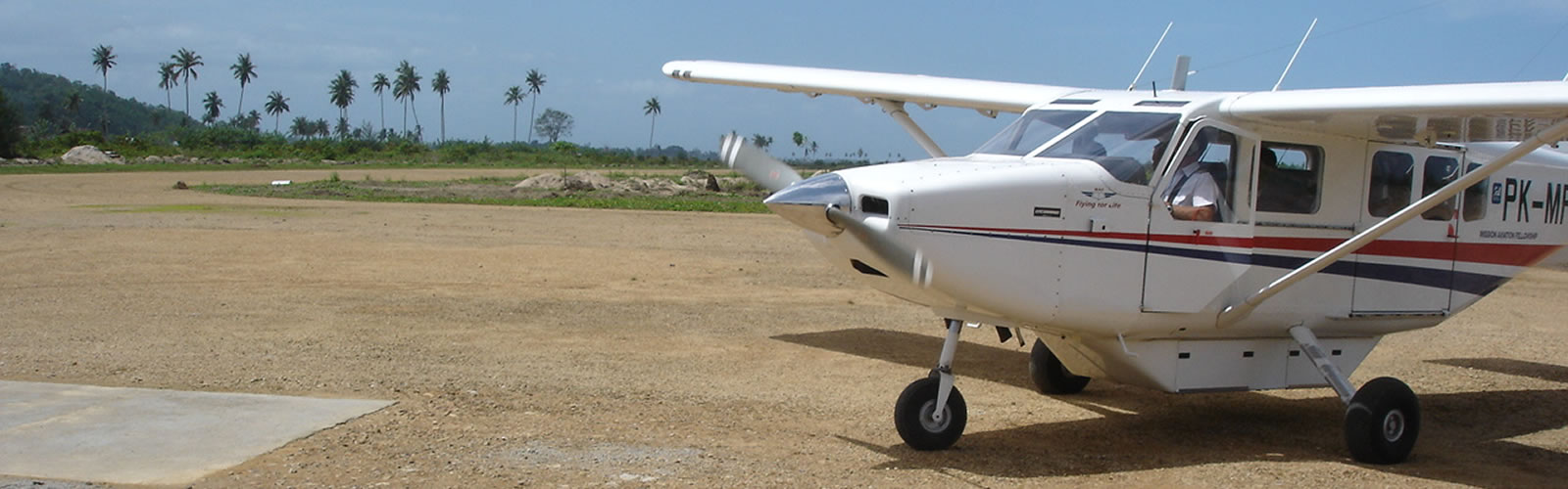 MAF aircraft on remote airstrip